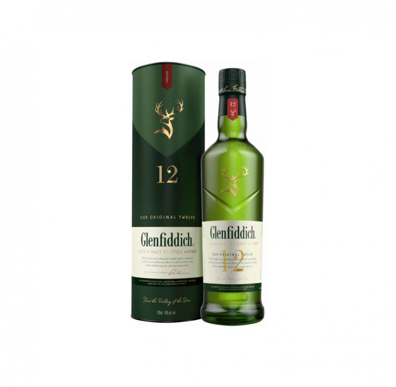 Glenfiddich Whiskey 12 Years Old 1Ltr